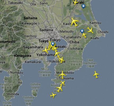 リアルタイムに飛行機が見れる!フライトレーダーのサイトが凄い