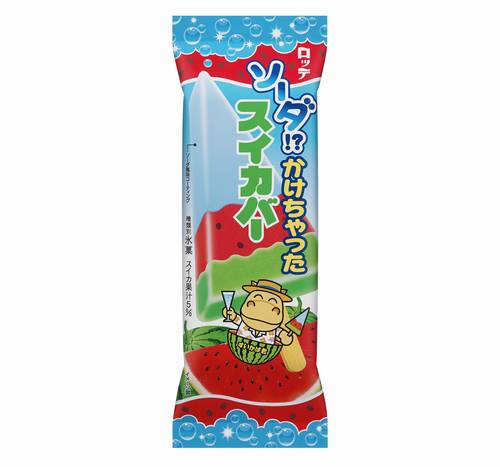 スイカバーをバージョンアップ!「ソーダかけちゃったスイカバー」が4月7日から発売!